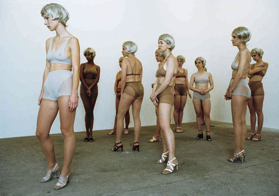 "Still from ""Piano Americano"" by Vanessa Beecroft"