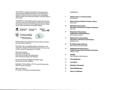 INDUSTRY Table of Contents