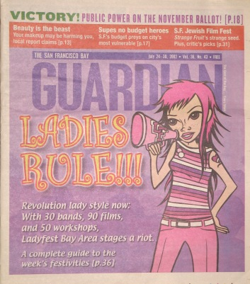 Ladyfest Bay Area cover story in San Francisco Bay Guardian