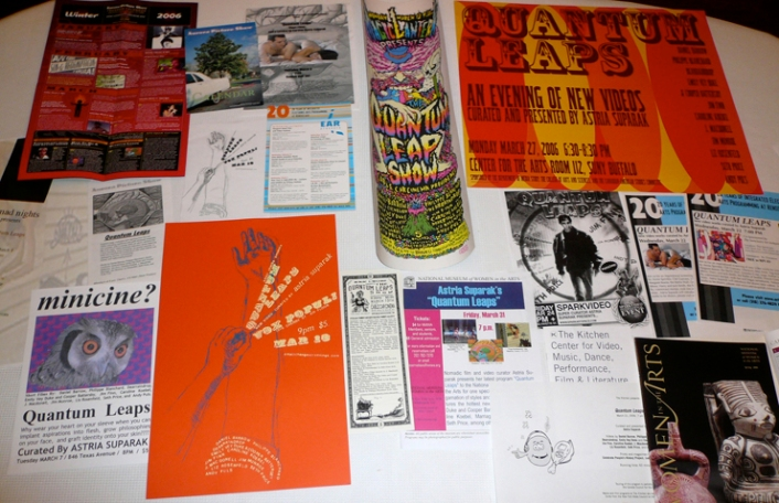 Quantum Leaps posters from various venues on tour
