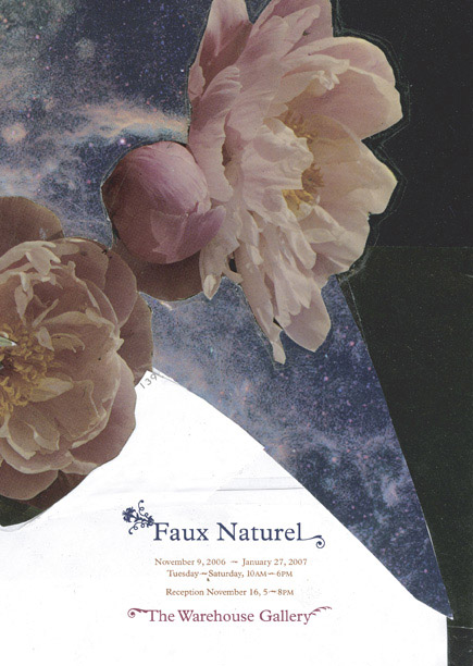 "Faux Naturel postcard; image: detail from ""Space Garden"" by Annie MacDonell"