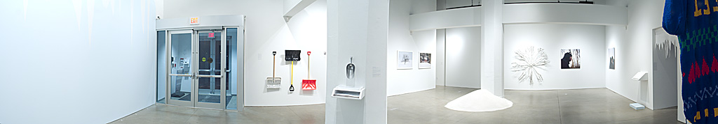 Installation view of Embracing Winter