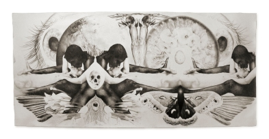 No Weak Heart Shall Prosper, Juliet Jacobson, 2006 Graphite on Arches Aquarelle 48X114""