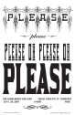 Please poster by Jo-Anne Balcaen, editioned,11x17""
