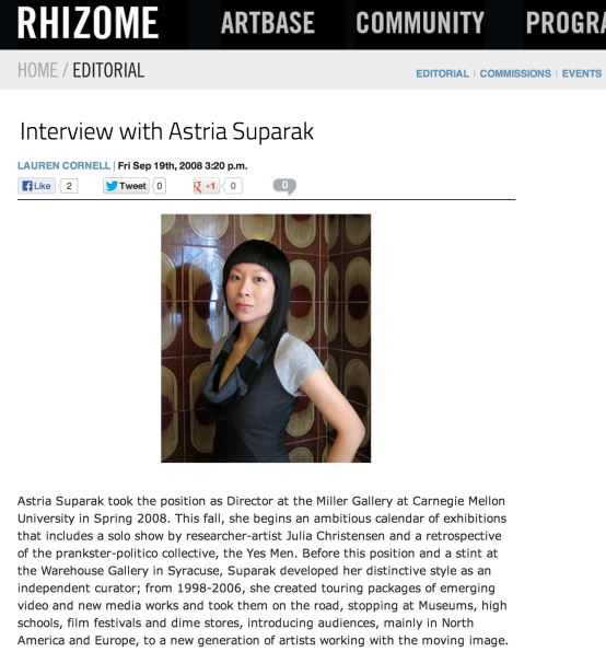 Rhizome Interview