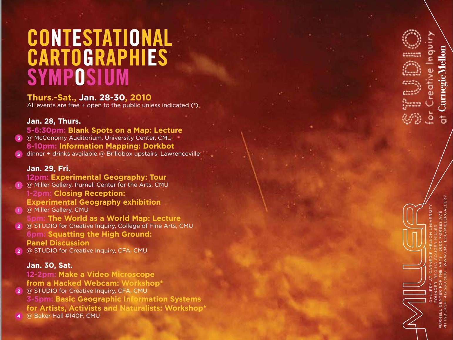 Contestational Cartographies brochure