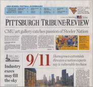 Top story on cover of Tribune-Review