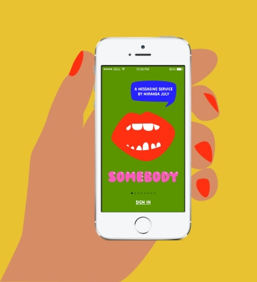 Somebody™, a new messaging service by Miranda July, 2014. www.somebodyapp.com
