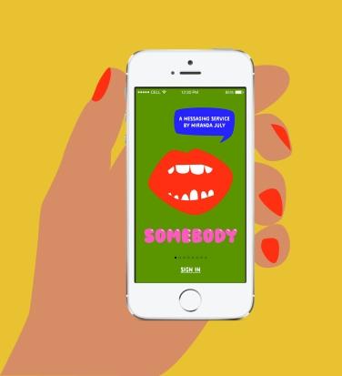 Somebody™, a new messaging service by Miranda July, 2014. www.somebodyapp.com