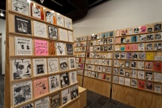 Installation shot: Zines and distribution catalogues (1991-2013)