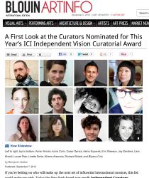 Art Info - ICI Award Nominees
