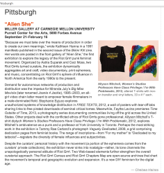 "ArtForum ""Critic's Pick"""