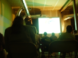 Quantum Leaps screening in an abandoned hardware store in Shreveport, LA with minicine?
