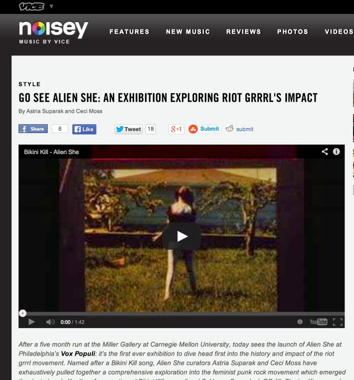 Vice's Noisey on Alien She