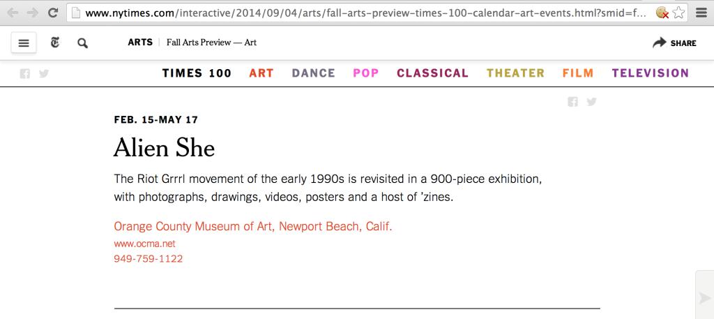 NYT Fall Arts Preview 2014 screengrab