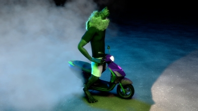 Still from OM Rider, Takeshi Murata, 2013. Courtesy of the artist and Salon 94, New York