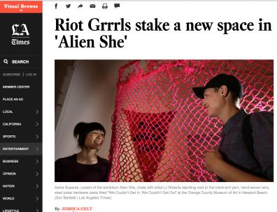LA Times feature on Alien She