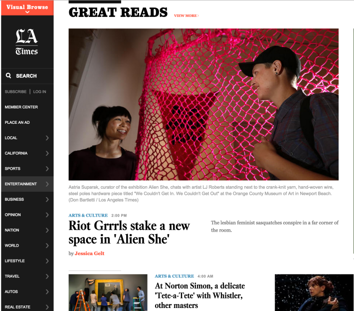 Los Angeles Times feature on Alien She