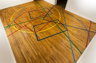 Installation view of GOALS by Suparak and Kashmere, at Pittsburgh Center for the Arts