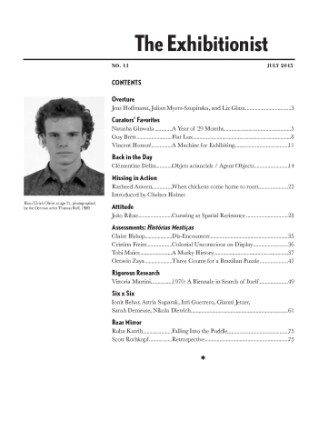 The Exhibitionist #11, table of contents
