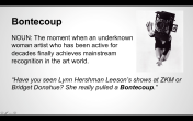 """Bontecoup"" from the Women Inc. Lexicon"