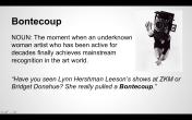 """""""Bontecoup"""" from the Women Inc. Lexicon"""