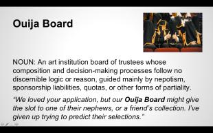 """Ouija Board"" from the Women Inc. Lexicon"