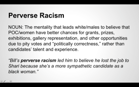 """Perverse Racism"" from the Women Inc. Lexicon"
