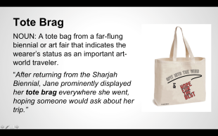"""Tote Brag"" from the Women Inc. Lexicon"