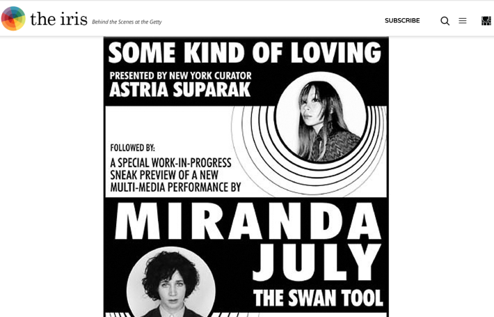 """Some Kind of Loving tour poster on THE GETTY: The Iris, """"Behind the Scenes and On the Stage with Joanie 4 Jackie,"""" Astria Suparak, Feb. 2, 2017."""