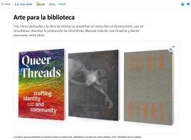 "La Nacion: ""Arte para la biblioteca,"" Daniel Gigena, 2017. (screenshot)"