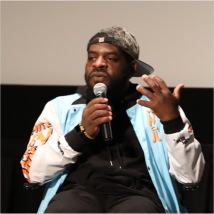 """Hanif Abdurraqib at """"Expanding the Field"""". Photo by the Wexner Center for the Arts."""