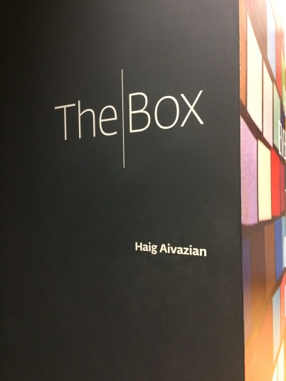 Entrance to the exhibition of Haig Aivazian's work at the Wexner Center.