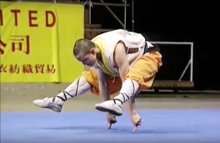 """Still from """"Two Finger Kung Fu"""" by the internet, GIF, c. 2009."""