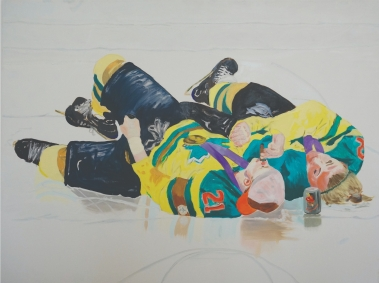 "Cara Erskine, ""Bask"", oil on canvas, 63x48 inches, 2017."