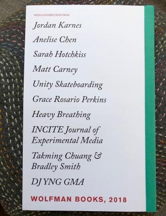 Back cover, Demand Utopian Sports (Wolfman Books, 2018)