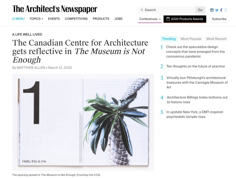 Review in The Architect's Newspaper