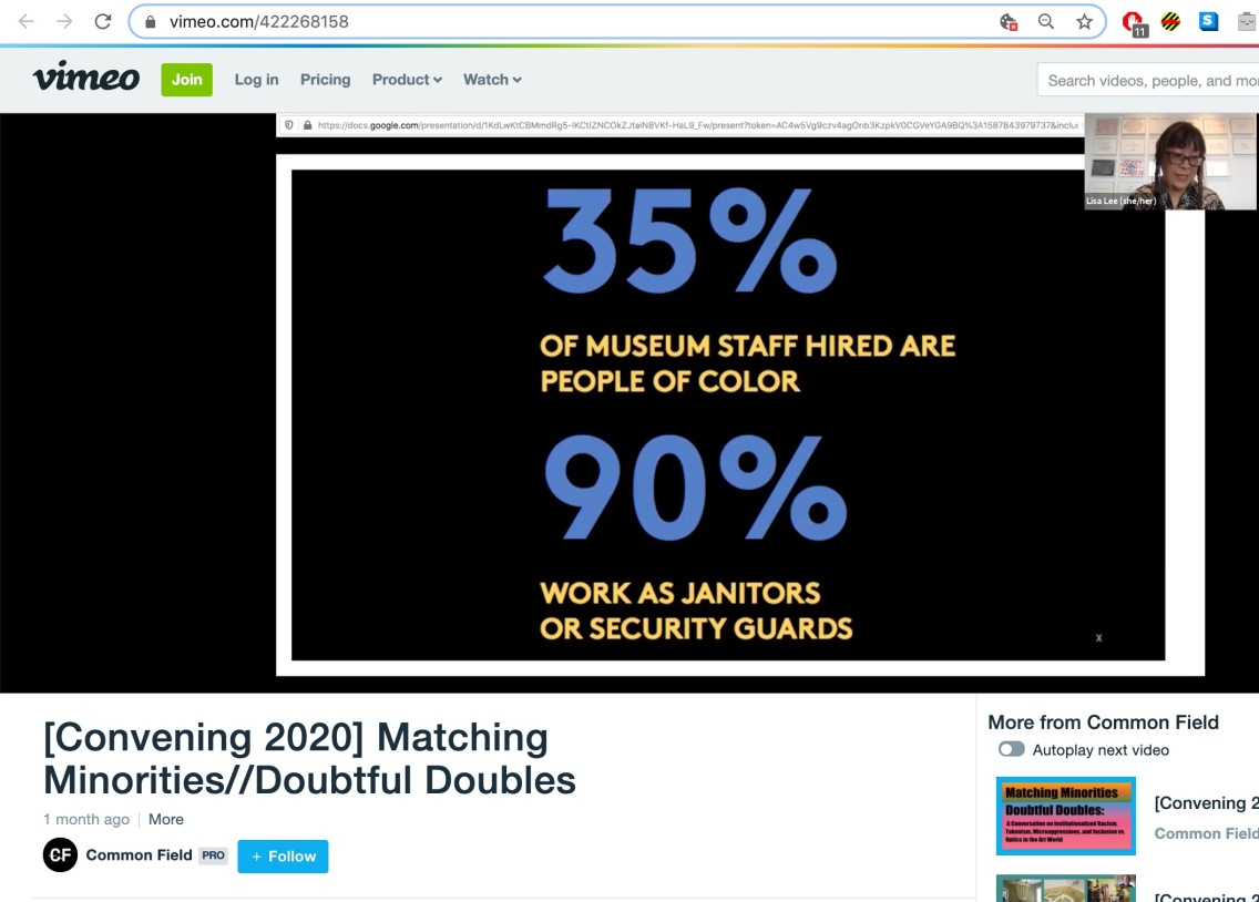 "Screengrab of ""Matching Minorities//Doubtful Doubles"" archived session on Vimeo"