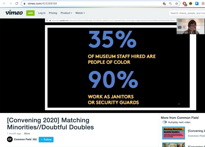 """Screengrab of """"Matching Minorities//Doubtful Doubles"""" archived session on Vimeo"""