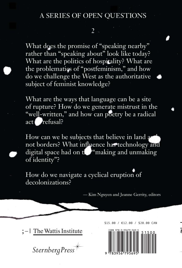 """Back cover, """"Why are they so afraid of the lotus?"""" (CCA Wattis Institute & Sternberg Press, 2021)"""